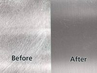 How to remove scratch from stainless steel sink