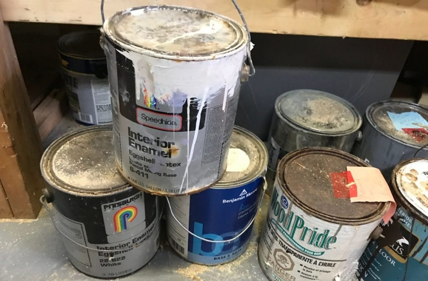 properly store paint